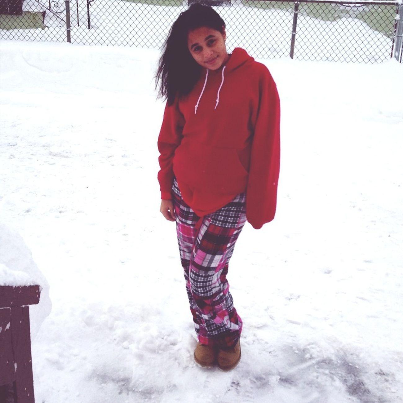 Hispanic in the snow