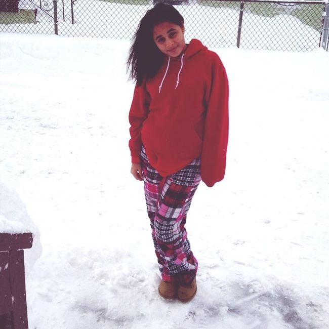 Hispanic in the snow