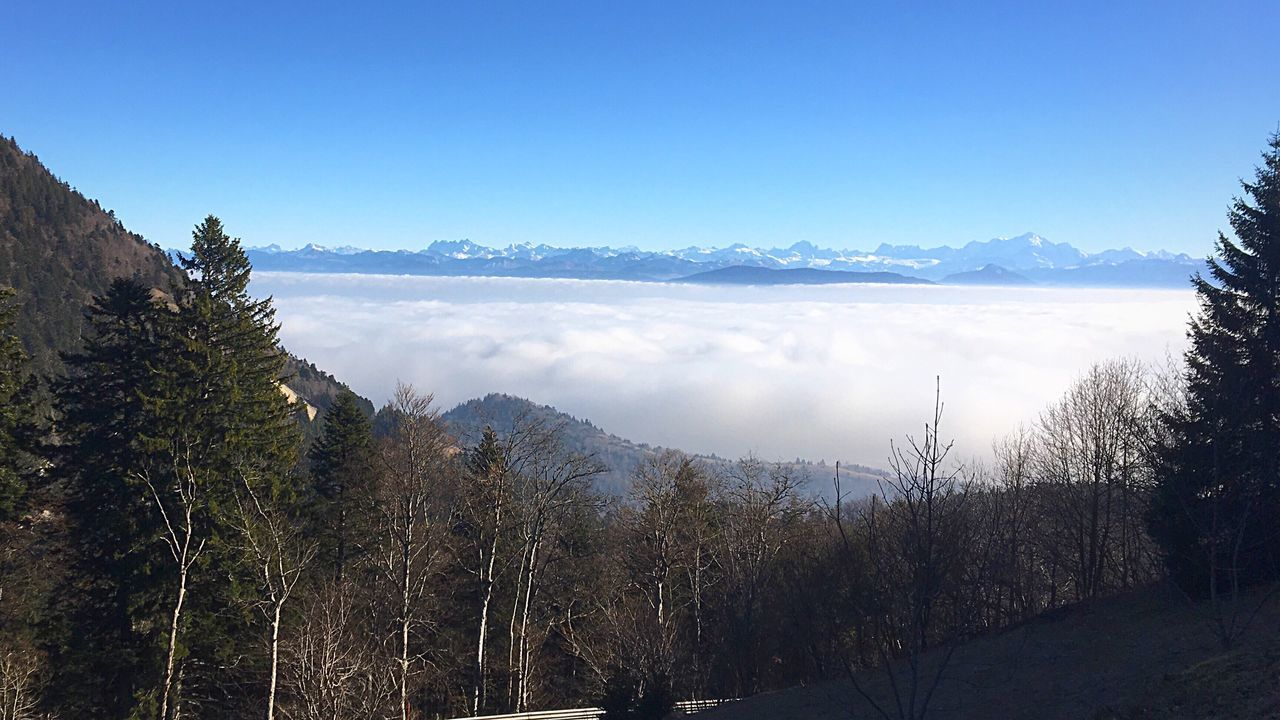 Finding New Frontiers France Roadtrip French Alps Mountains Above The Clouds Winter Snow Sunny Day