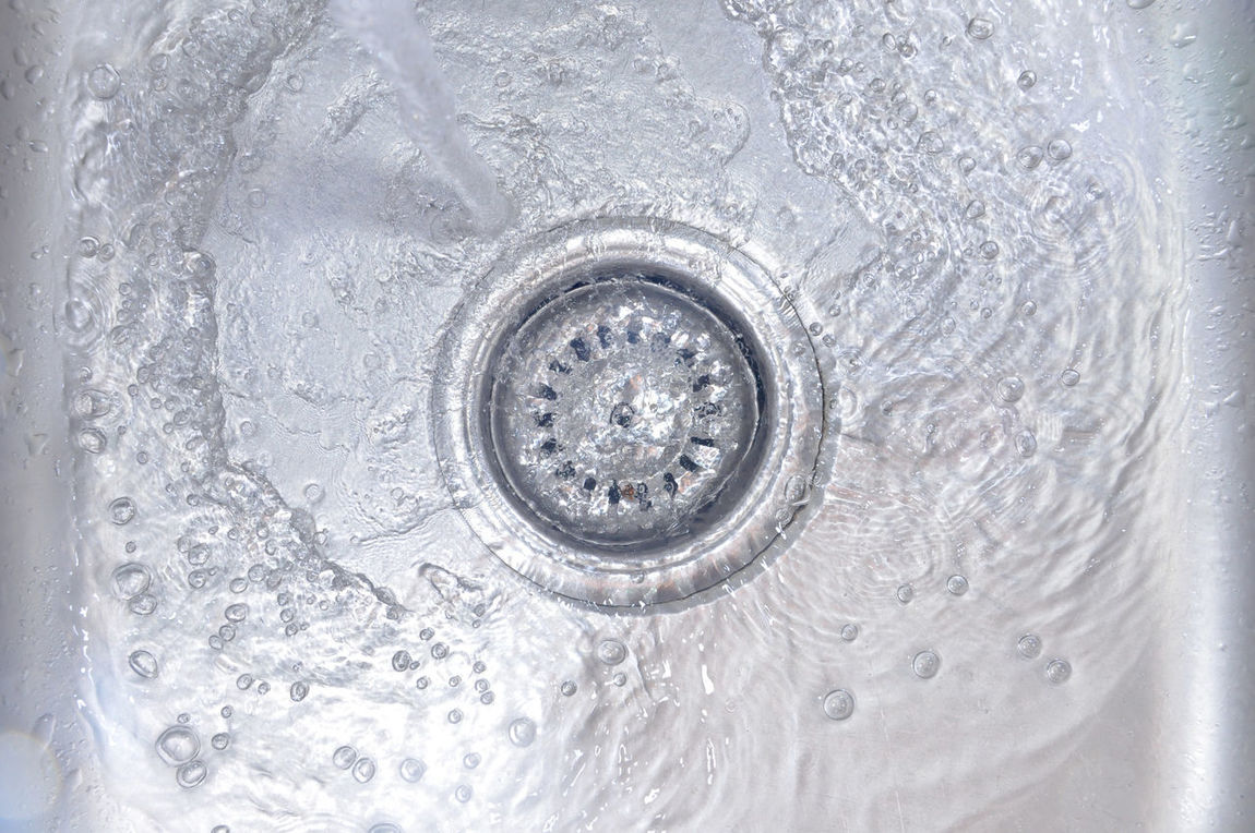 Water Flowing Down In The Hole In A Kitchen Sink Basin Buble Clean Cold Drain Droplet Faucet Flowing Hygiene Kitchen Kitchen Sink Liquid Pipe Plumbing Sewage Sewer Shine Sink Stainless Steel  Steel Tap Wash Wash Basin Water Wet