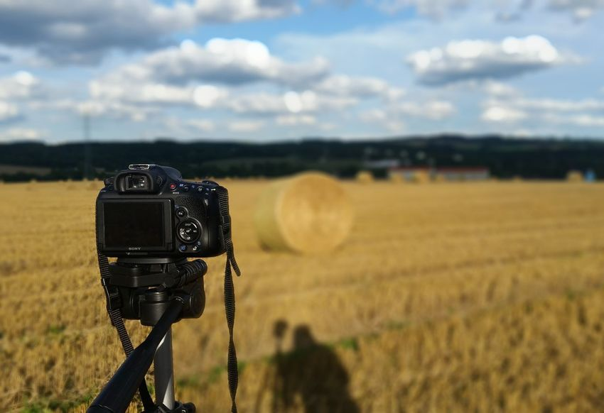 Photography Themes Field No People Camera - Photographic Equipment Sky Day Outdoors Fokus On Foreground Oederan Mittelsachsen