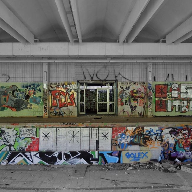 Abandoned Light And Shadow Urban Decay From My Point Of View Streetphotography Graffiti Art Graffiti Abandoned Buildings Abandoned Places Perspective Urban Reflections Urban Geometry Eye4photography  Colorsplash Vanishing Point