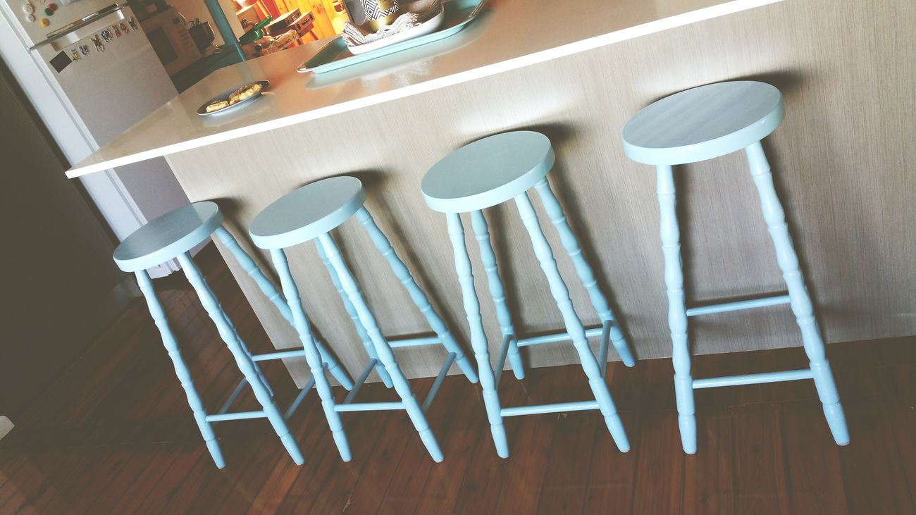 Tiffany blue Stools Furniture Home Sweet Home NewAddition Decorating