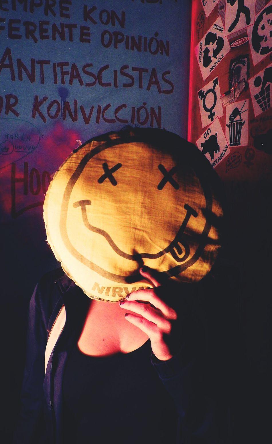 Human Face Mask - Disguise Facial Expression Creativity Nirvana Nirvana <3 Nirvana Day Nirvanatshirt Kurt Cobain <33333 Kurt Cobain Portrait