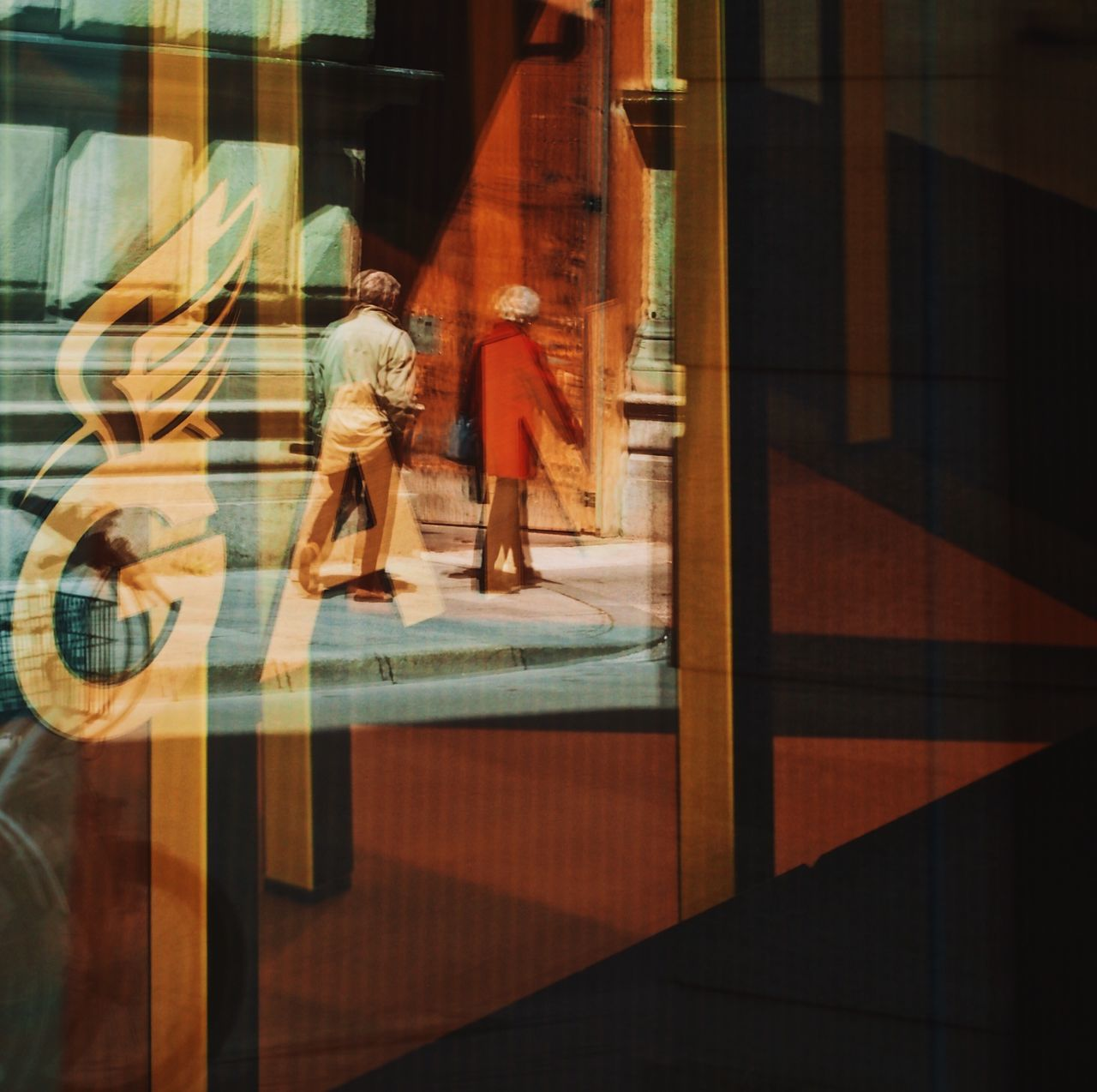 The Street Photographer - 2017 EyeEm Awards Reflection Real People Walking Window Lifestyles People Sebastianriegerphotos Streetphotography Blurred Motion