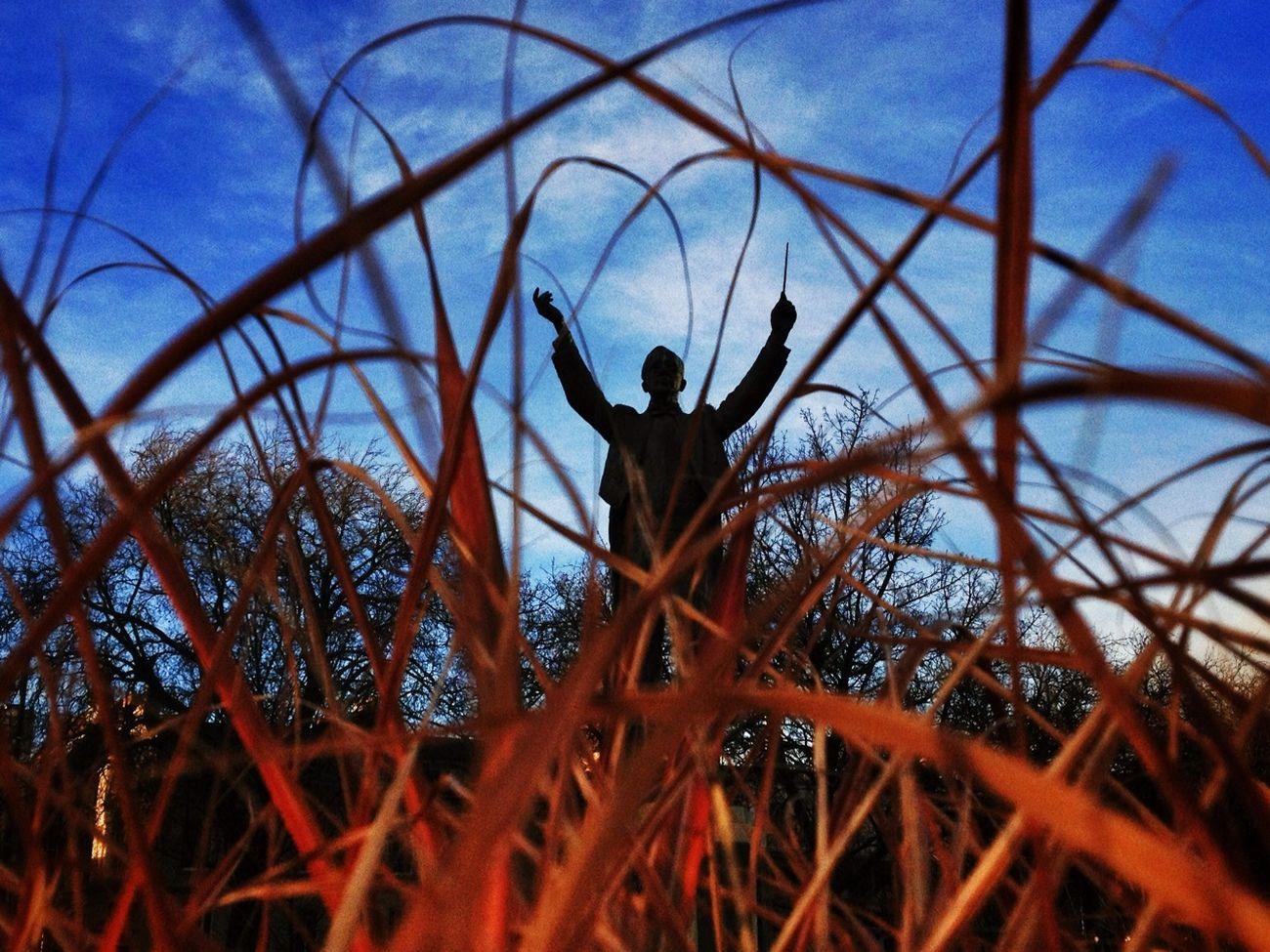 Gustav Holst statue in Imperial Gardens, Cheltenham