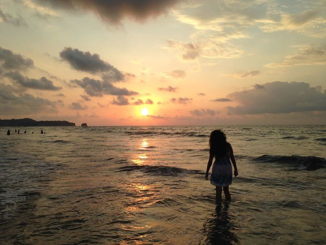 Beach☀️☀️ No Effects Needed For Nature Beauty Sunset ❤️