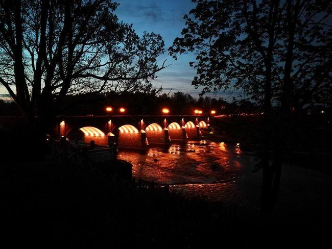 Night Water Togetherness Outdoors The Widest Waterfall In Europe Venta River Venta Kuldīga, Latvija Kuldiga Bridge - Man Made Structure Bridge