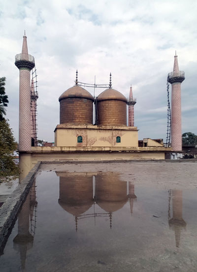 Architecture Tower Reflection Built Structure Place Of Worship Dome Water Day Sky Outdoors Replica  Kazmain. Lucknow Lucknowdiaries