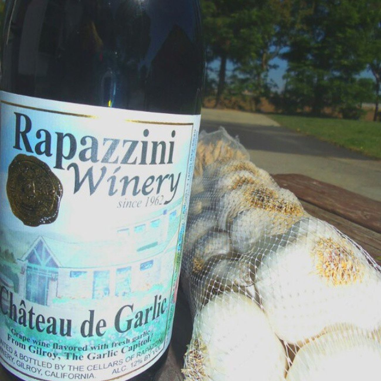 Garlicwine Gilroy Rapazzini Winery A perfect marriage! Cook for me eternally!
