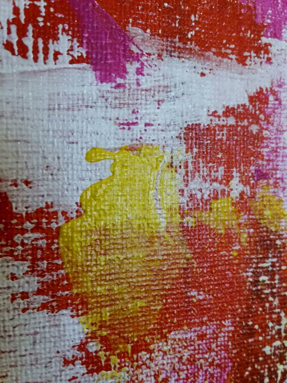 abstract, backgrounds, yellow, textured, red, full frame, paint, pattern, painted image, close-up, no people, multi colored, day, pixelated
