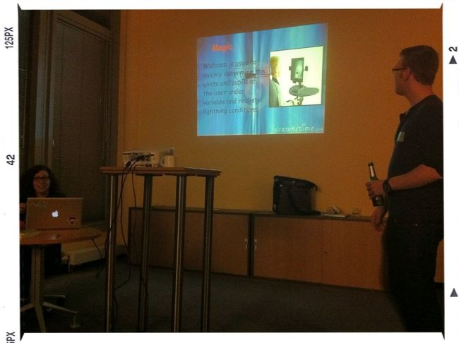 awesome powerpoint karaoke is awesome - @crieger improvises & @liron leads w/ slides #adc12