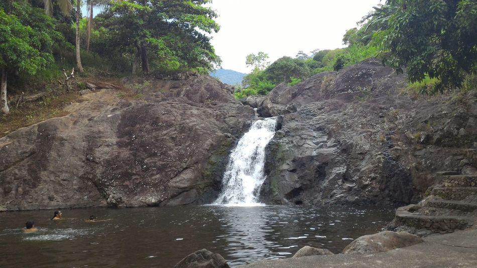 Calming Waters Falls Refresing Water Swimming
