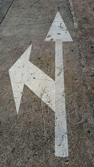 Up Close Street Photography Arrow Arrow Symbol Turn Left Street Streetphotography Road Pavement Floor Signs