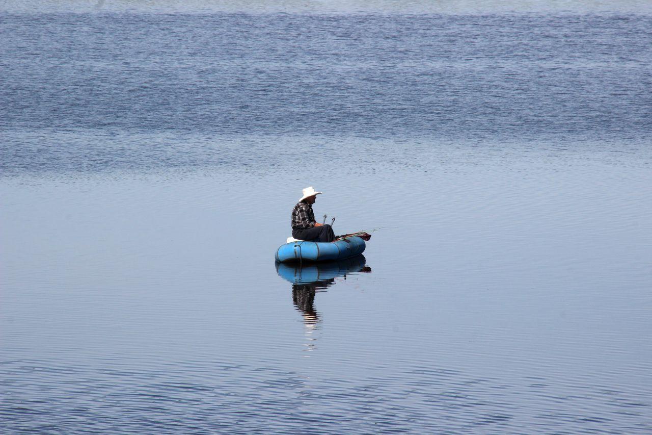 Allein Angeln Boat Men Nature Russland Single Life  Water Wolga