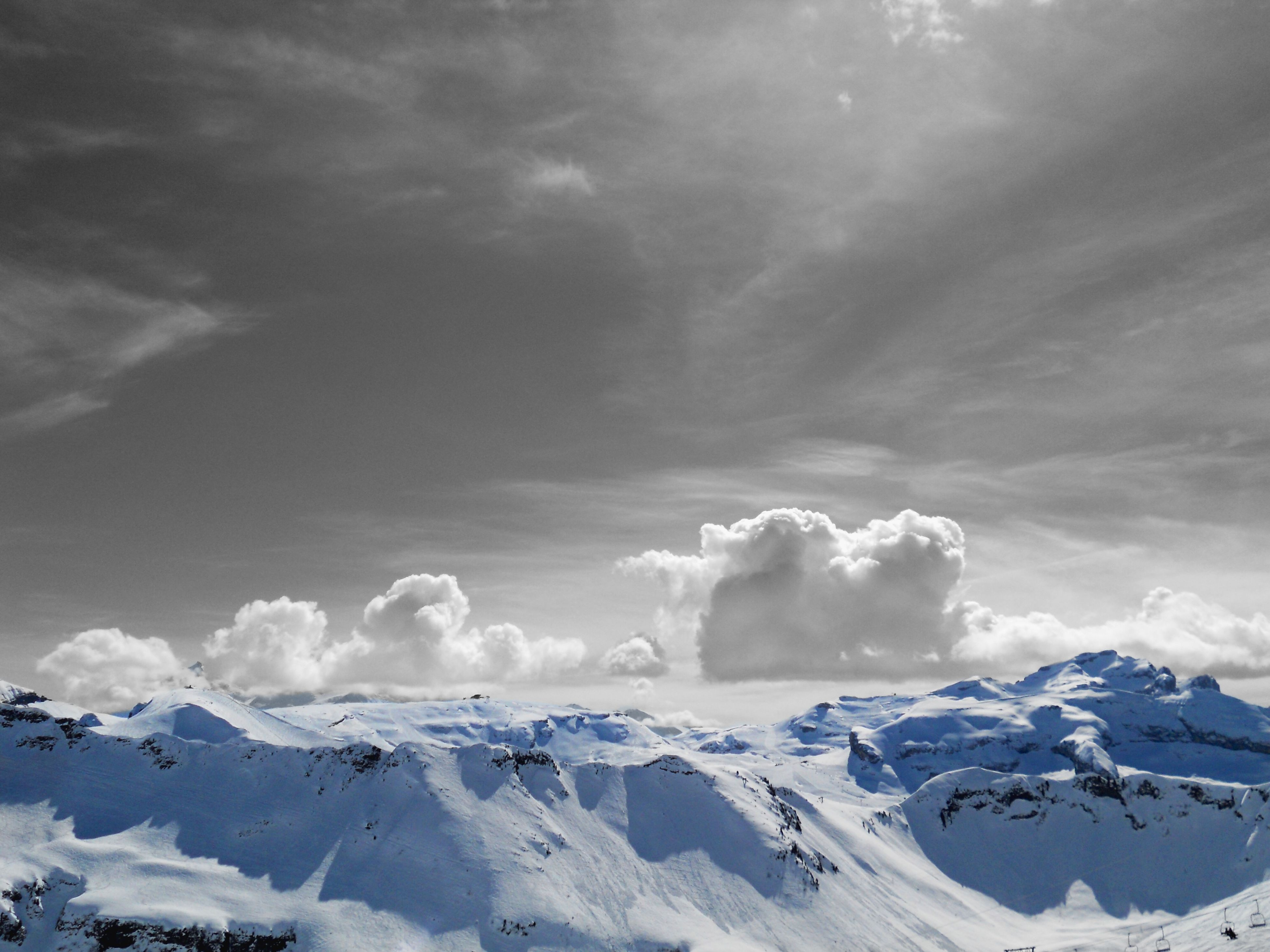 snow, winter, cold temperature, mountain, weather, season, scenics, tranquil scene, sky, beauty in nature, tranquility, snowcapped mountain, mountain range, cloud - sky, nature, covering, landscape, white color, cloudy, idyllic