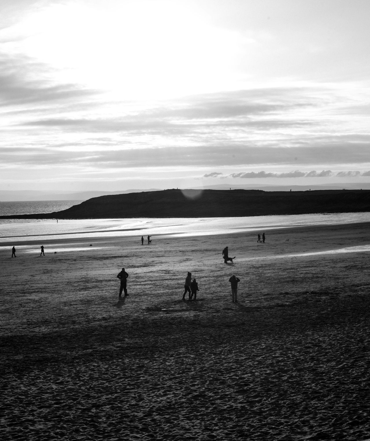 Cold Beach Beachphotography Beauty In Nature Blackandwhite Cloud - Sky Day Horizon Over Water Leisure Activity Men Nature Outdoors People Photojournalism Playing Real People Sand Scenics Sea Shore Sky Streetphotography Taking Photos Travel Wales Water