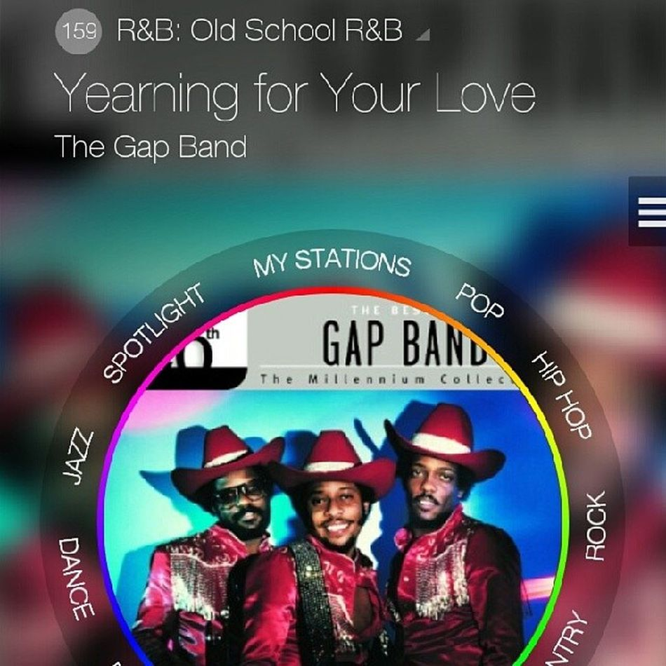"""""""You can't keep running in and outta my life """" B!! These kids know NOTHING!! LOL Classics MilkRadio Gapband YearningForYourLove"""