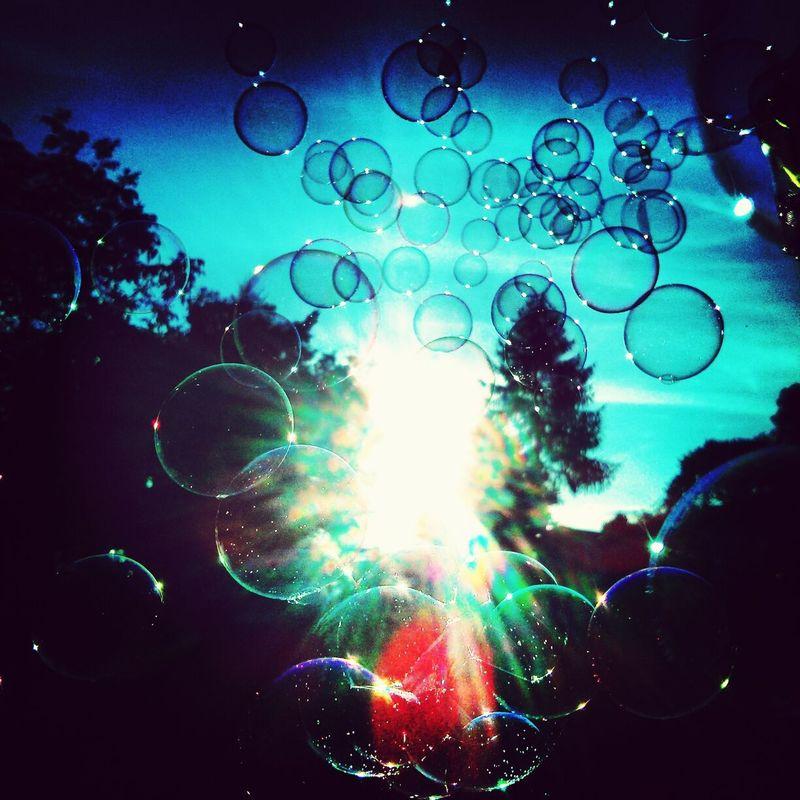 Bubbles Sun Soap Bubbles Blowing Bubbles