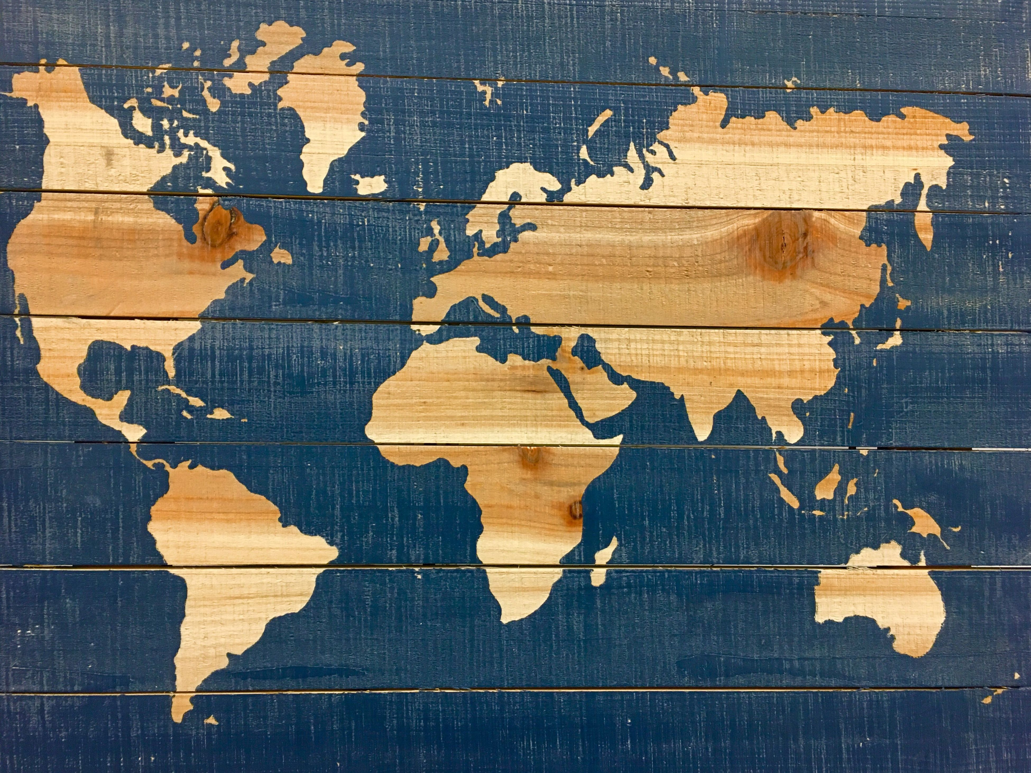 Maps of any kind ❤️ Map Wood - Material Wood Map Maps World Maps