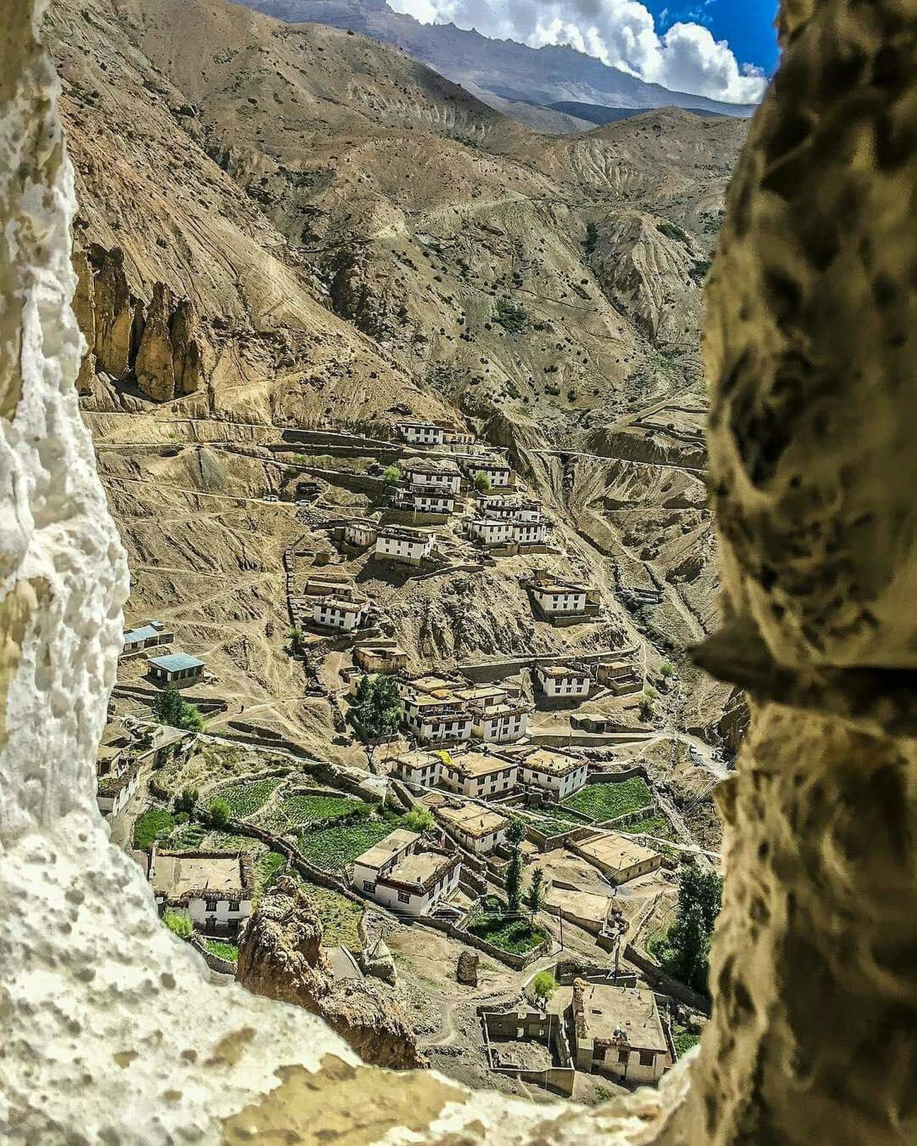 Village in Spiti Valley Travel Destinations Indianphotography Himachal Pradesh, India EyeEmNewHere Scenics Cold Desert India Spiti Valley