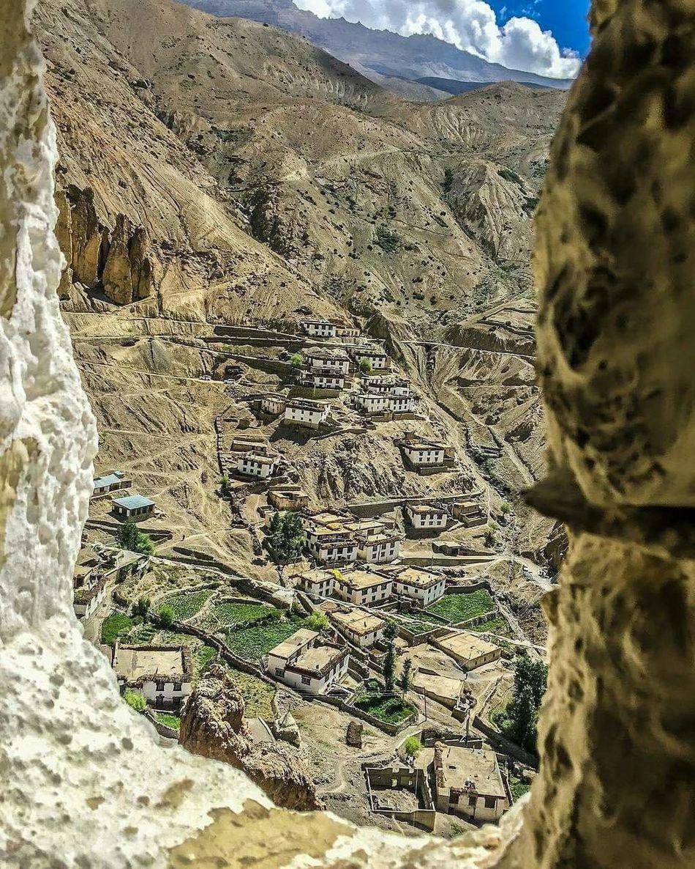 Village in Spiti Valley Travel Destinations Indianphotography Himachal Pradesh, India EyeEmNewHere Scenics Cold Desert India Spiti Valley