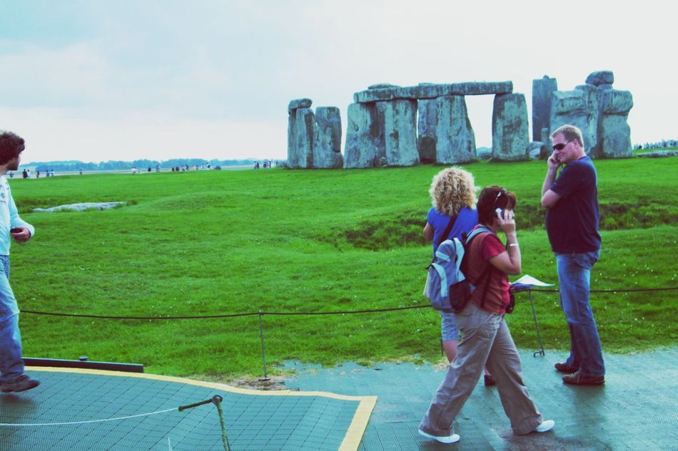Faces In Places Stonehenge Ancient Civilization Ancient Ruins Paradox People Photography People Walking  People With Smartphones