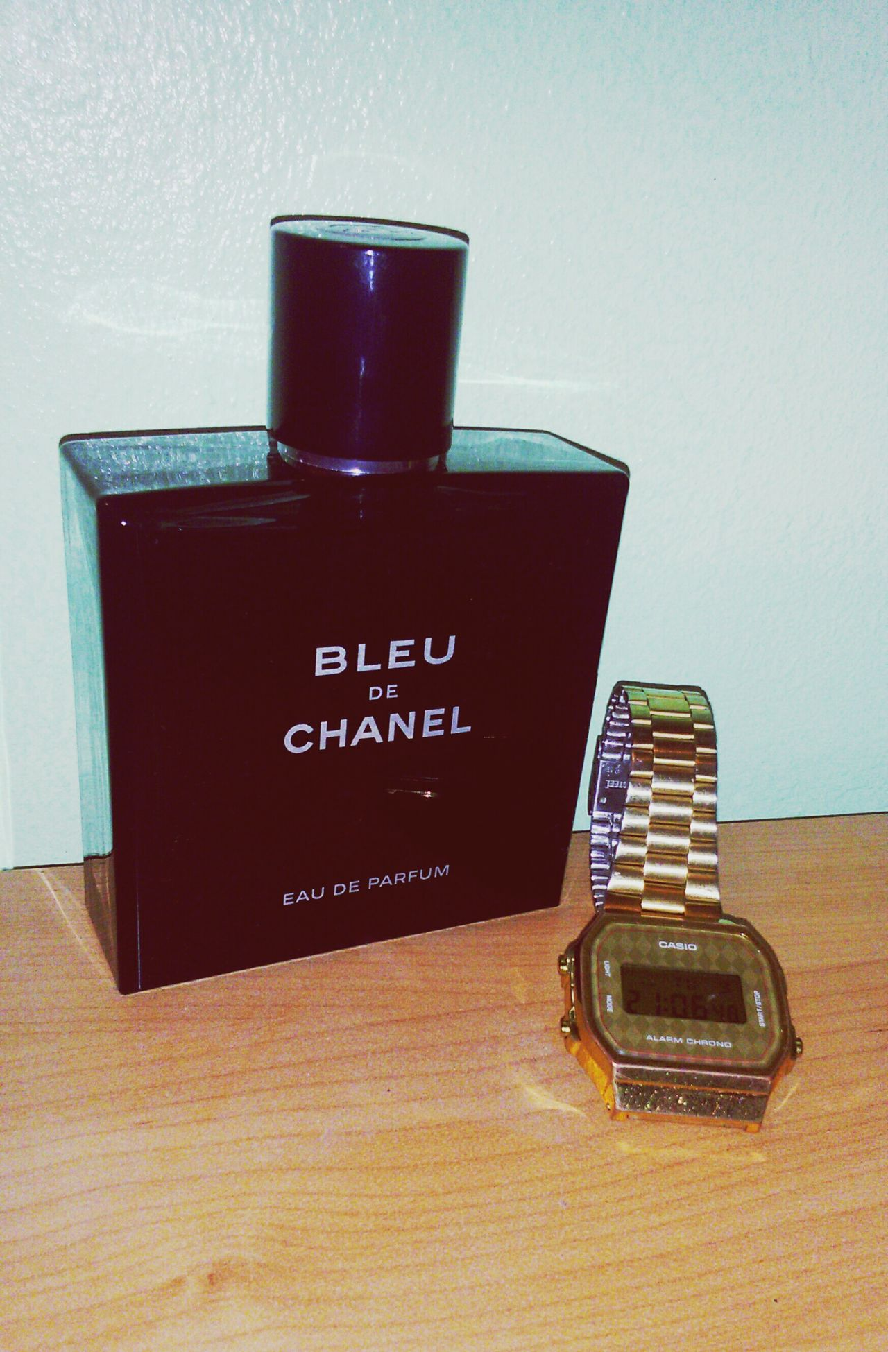 Table Object Parfume Parfum Casio Watch Casio Chanel Bleu De Chanel Love Lovely Watch Beauty