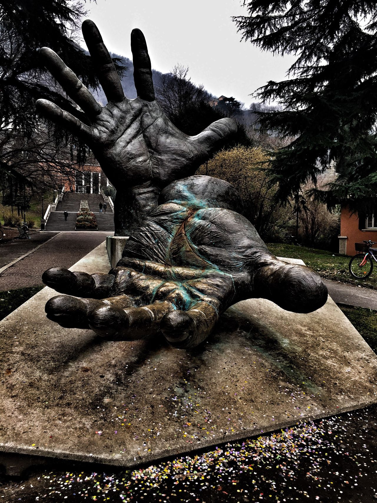 Human. Human Hand Human Body Part Human Representation Statue Sculpture No People Outdoors Fingers Hope Colors Eye4photography  Streetphotography