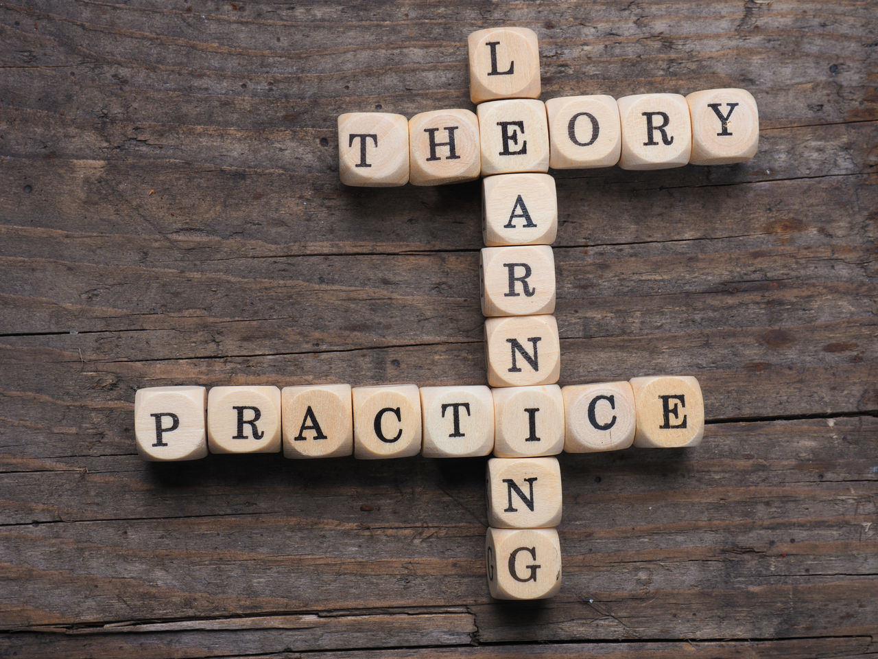 Theory and practice Alphabet Business Capital Letter Close-up Communication Concert Day Diminishing Perspective Indoors  Learning No People Number Practicing Single Word Spelling Studio Shot Table Text Theory Toy Block Wood - Material Wood Grain