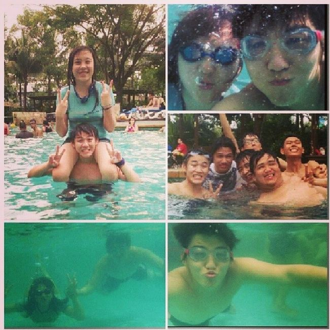 Havin funn with some new friends Yolo Waterboom Jakarta Fun swimming swimmingpool selfie ootd
