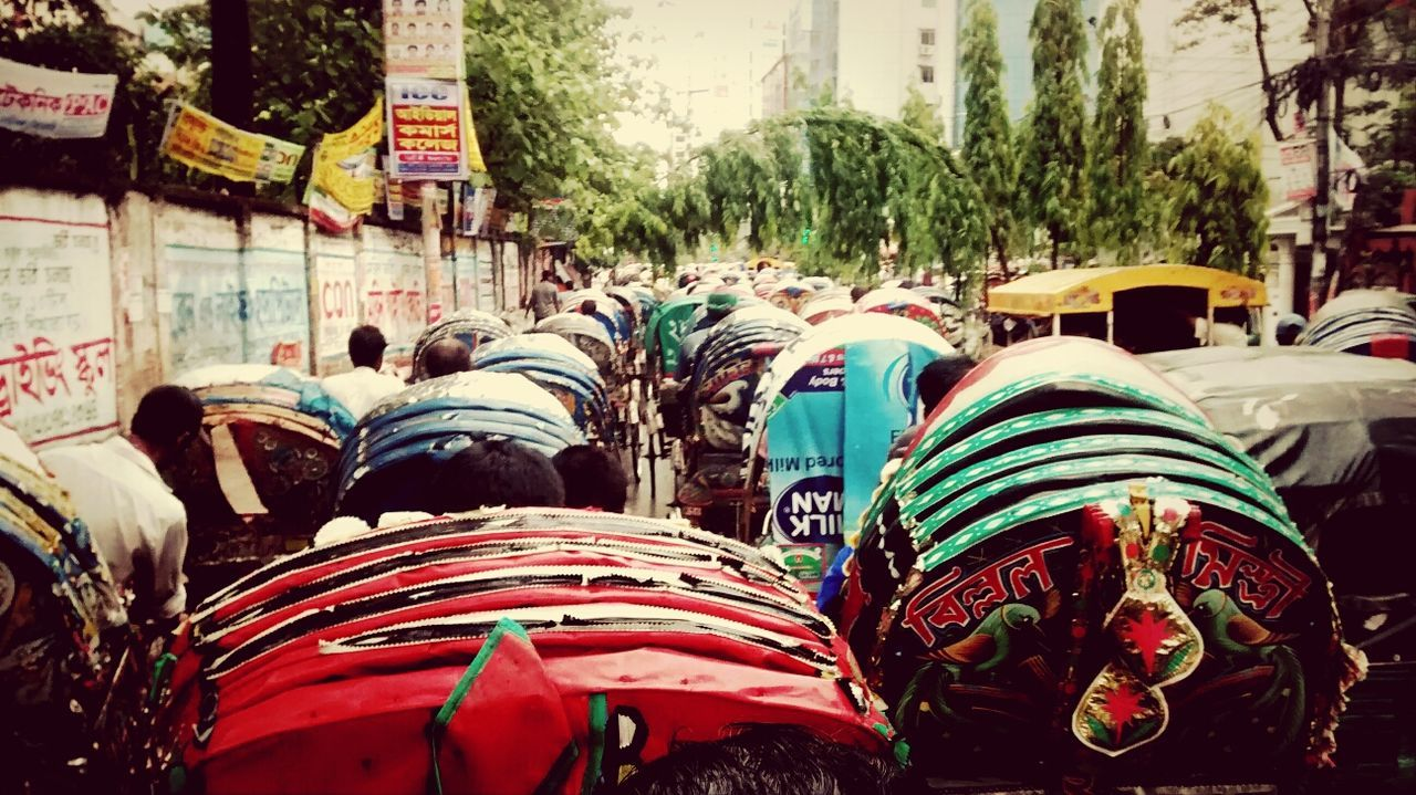 After rain City Life Rickshaw Trafic Jam Street Photography