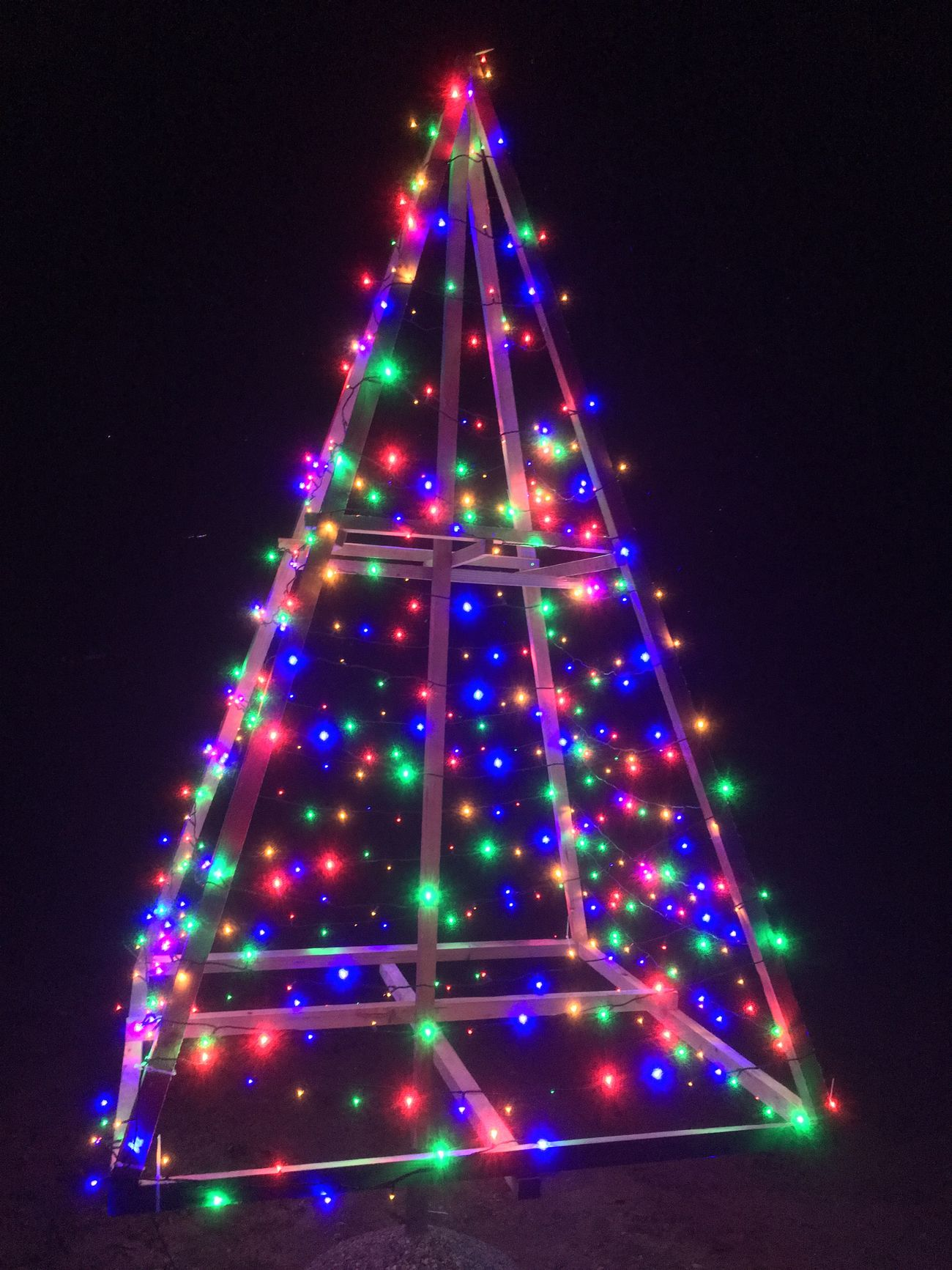 Christmas Tree Illuminated Christmas Celebration Christmas Decoration Night Christmas Lights Multi Colored No People Tree Topper Christmas Ornament Holiday - Event Indoors  Sky