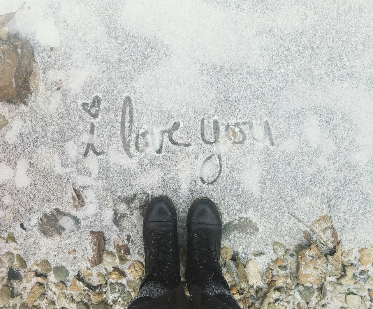 👁❤U Personal Perspective Winter Snow Love From Where I Stand Low Section EyeEm Best Shots Getting Inspired Cold Temperature Human Leg Standing Human Body Part Shoe Unrecognizable Person Outdoors