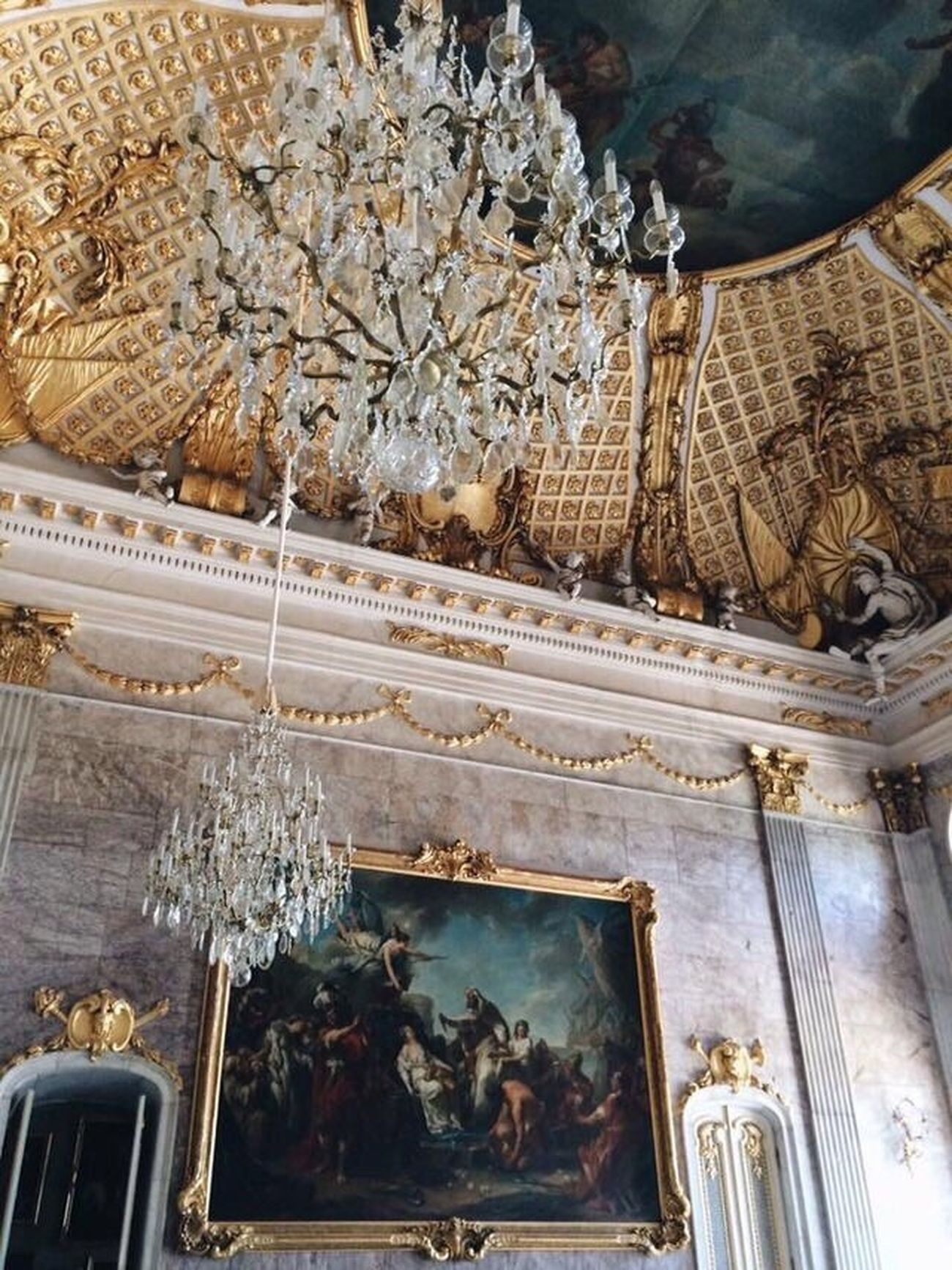 Germany Potsdam Potsdam Sanssouci Neuepalais Interior Design Interior Architecture Rococo Ceiling Indoors  Decoration Decor