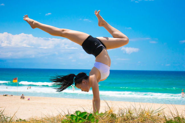 True North Beach Beauty Blue Day Exercise Handstand  Happiness Healthy Healthy Lifestyle Inversion Inverted Nature Ocean Outdoors Sand Sea Sky Sport Strength Summer Tropical Climate Vacations Water Workout Yoga