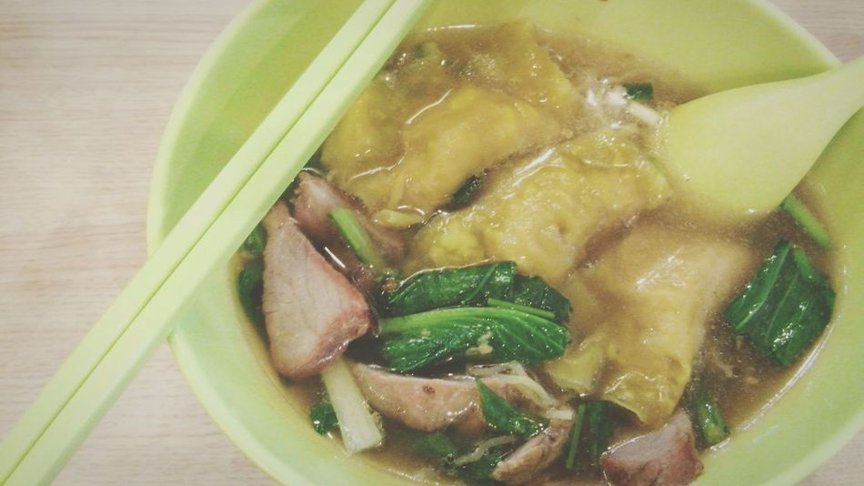 eating Food Eat Eat And Eat Eating Delicious Enjoying A Meal Noodles Wonton Soup Shrimp Wonton Soup With Noodles Food Photography Delicious Food