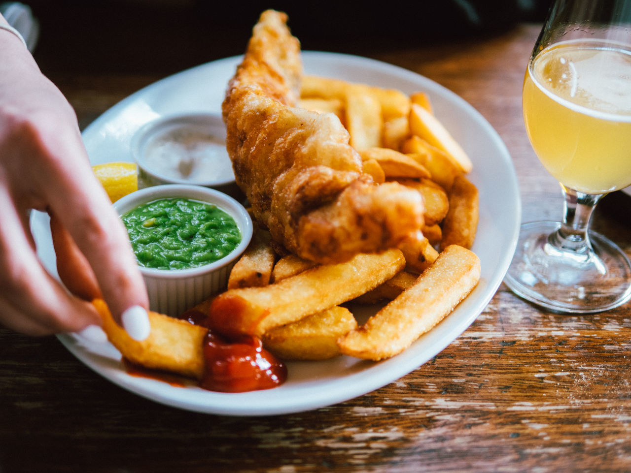 oy mate Fish And Chips Human Hand