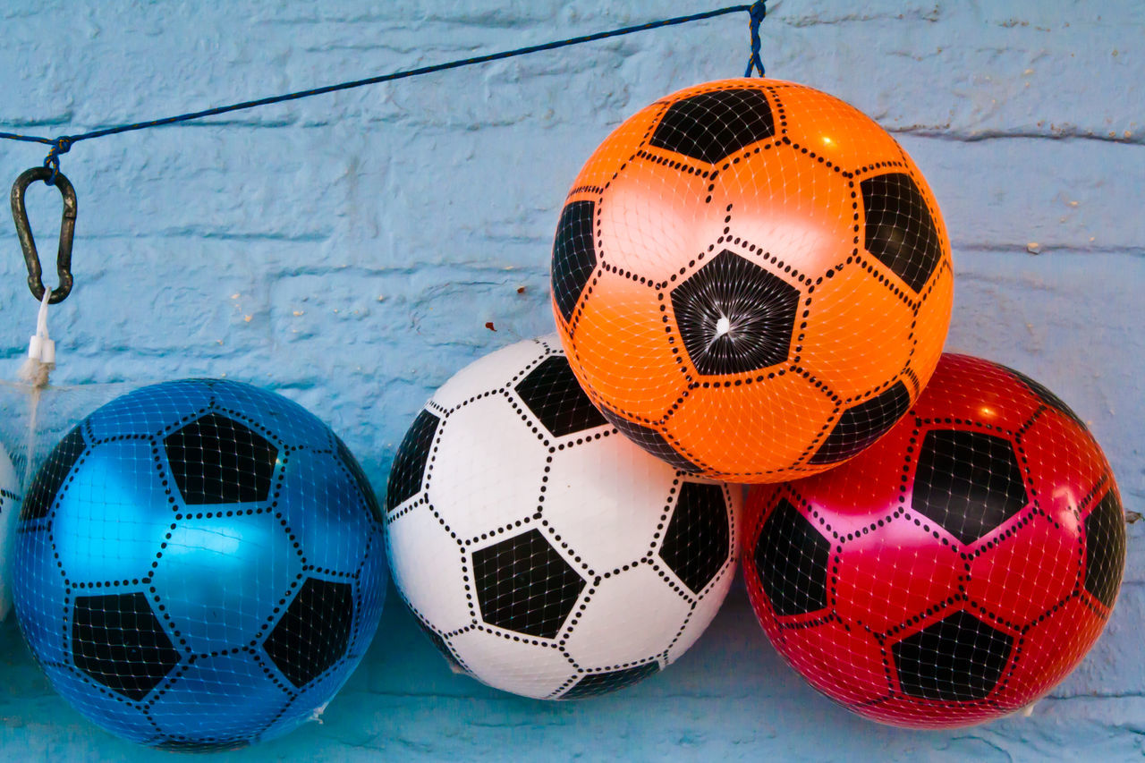 Beautiful stock photos of soccer, Ball, Close-Up, Colorful, Focus On Foreground