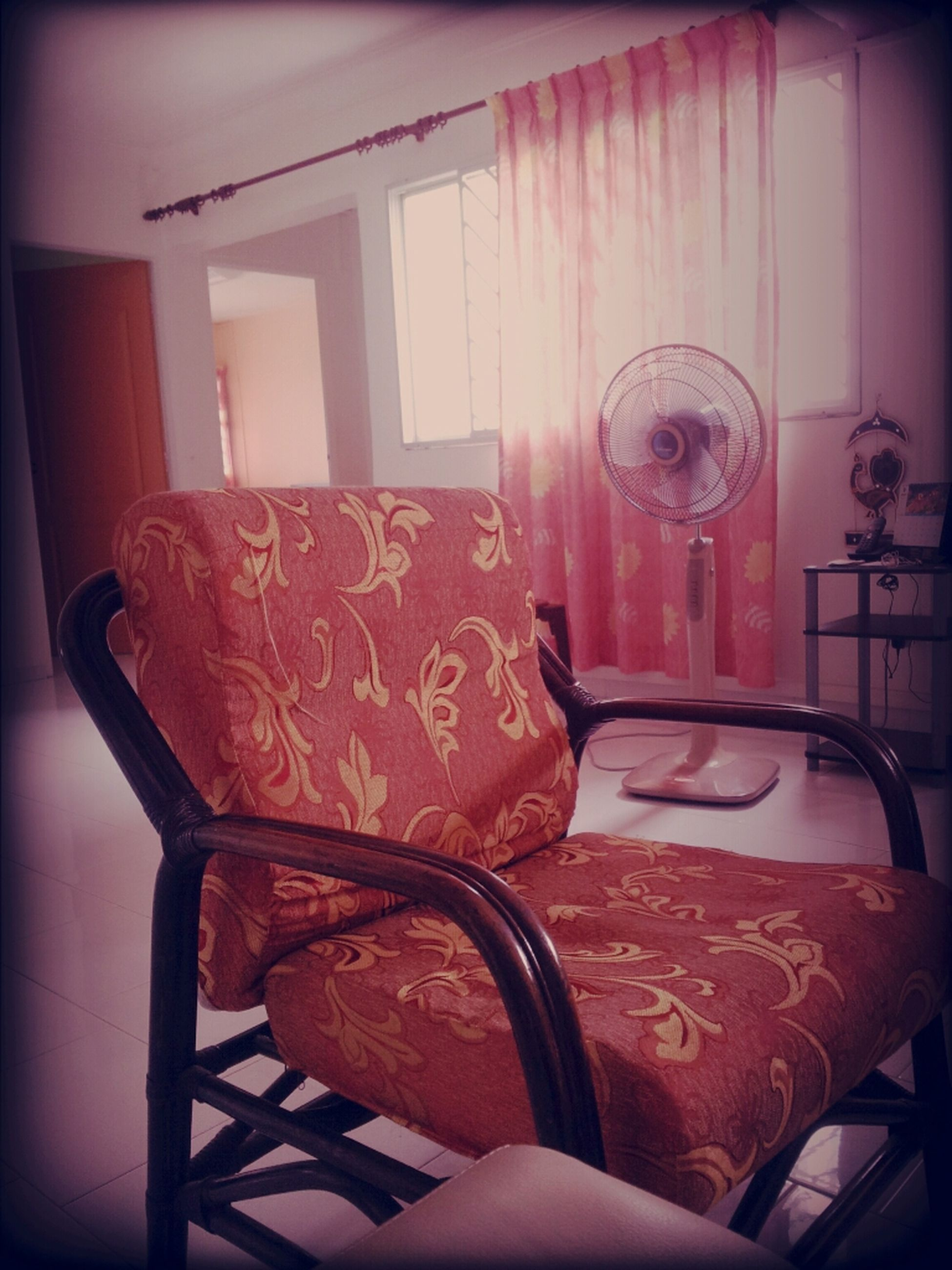 indoors, chair, auto post production filter, transfer print, table, absence, home interior, house, no people, empty, furniture, old-fashioned, seat, built structure, still life, day, wall - building feature, old, sunlight, abandoned