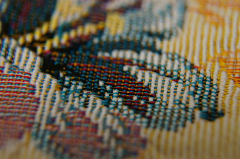 Art And Craft Backgrounds Bead Close-up Day Fabric Indoors  Multi Colored No People Pattern Rossano Grimoldi Selective Focus Textile Textured  Woven Woven Close Up Woven Colours Woven Pattern