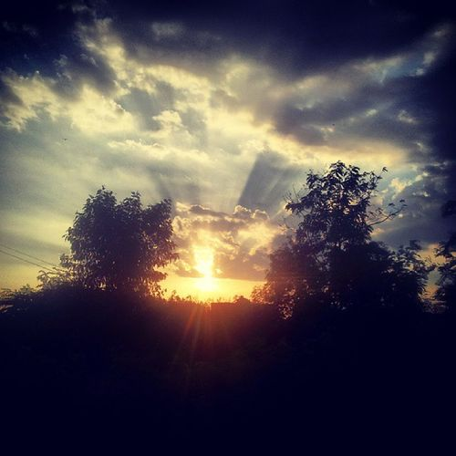 Sunrise Early Morning Trees Clouds Sky Timepass Instasxt Instagood Picoftheday S2