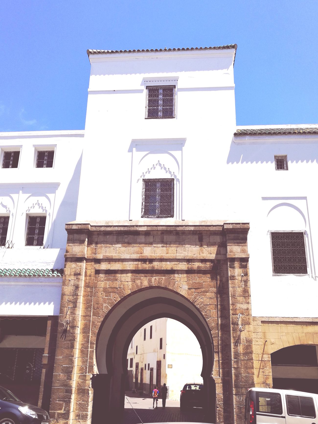 Arch Architecture Travel Destinations Built Structure Travel Low Angle View Outdoors Façade Building Exterior Day Sky City People Old City Casablanca Morocco