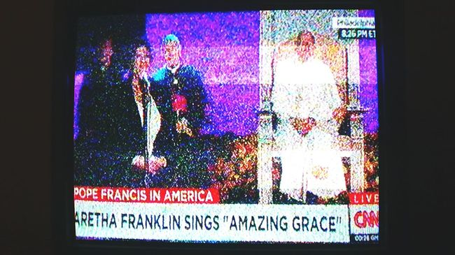 Last night.... A special pope in America :) News On TV Visiting New York Event
