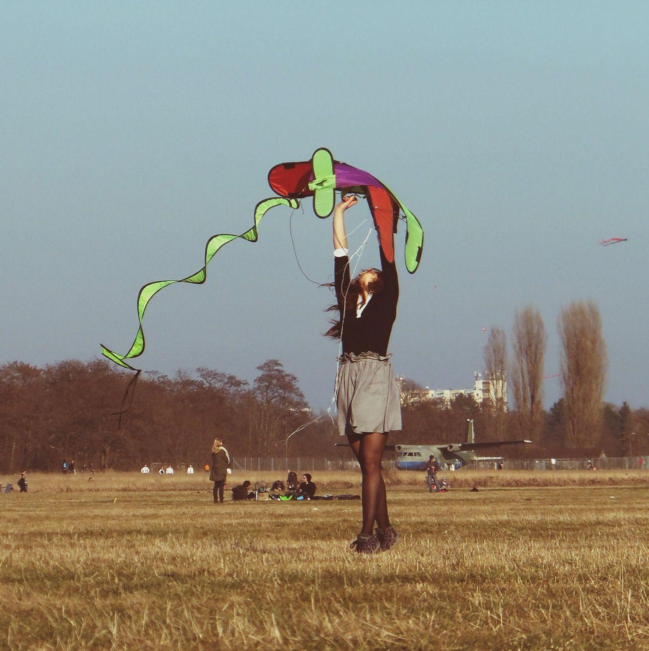 Flying A Kite Enjoying The Sun Sunday Streetphotography