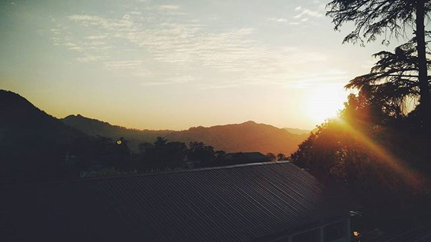Picoverload Mussorie Lbsnaa Oneplus2 Sunset Hills Sky Landscape