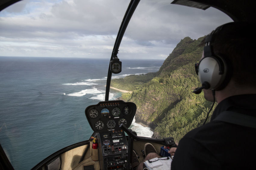 Coastline of hawaiian Island from helicopter Cloud Coastline Hawaii Helicopter Mountians Ocean View Seascape Photography Beach Cocpit Green Nature Pacific Coast Pacific Ocean Pilot Rugged Coastline Sea And Sky Seascape Shoreline View From Above