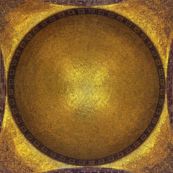 IPhoneography Architecture Ceiling Dome Golden Dome Gold Tiles Symmetry Abstract Minimalist 43 Golden Moments