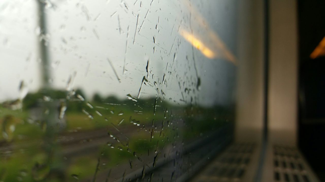 glass - material, drop, window, wet, water, no people, indoors, selective focus, close-up, windshield, raindrop, day, nature, sky, freshness