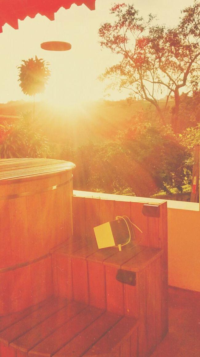 Taking Photos Relaxing Enjoying Life Farm Hottub  Sunset Afterlightapp